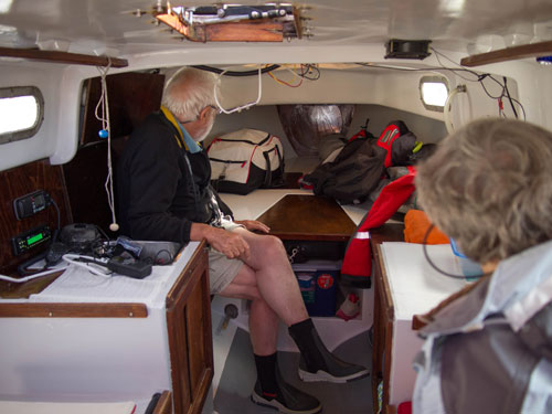 Interior of Bastian's Boat